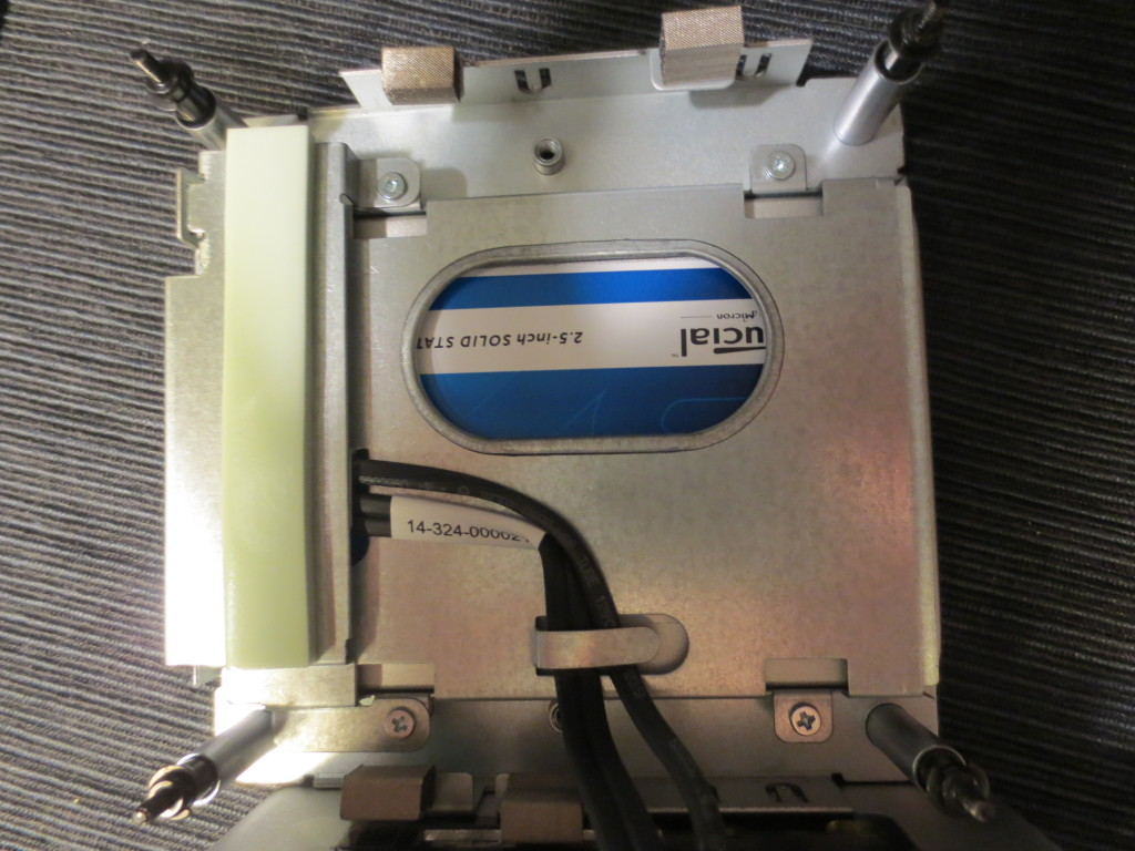 Die SSD im Einbaurahmen.